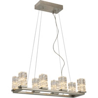 Trend Lighting Frozen II LED 8 Light Chandelier in Brushed Nickel with Clear Glass Shade TP7179-8