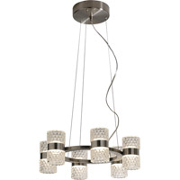 Trend Lighting Gem LED 12 Light Chandelier in Brushed Nickel with Clear Glass Shade TP7189-12