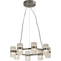 Trend Lighting Gem LED 16 Light Chandelier in Brushed Nickel with Clear Glass Shade TP7189-16