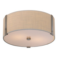 Trend Lighting Butler 2 Light Flushmount in Brushed Nickel with Coarse Cream Linen Shade TP7566