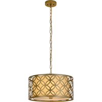 Trend Lighting Swank 2 Light Pendant in Champagne Gold with Cream Shantung Shade TP7686-51