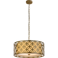 Trend Lighting Swank 3 Light Pendant in Champagne Gold with Cream Shantung Shade TP7689-51