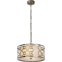 Trend Lighting Gala 2 Light Pendant in Brushed Stainless Steel with Off-White Shantung Shade TP7696-31