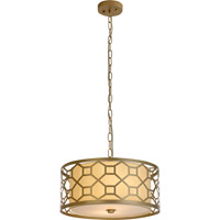 Trend Lighting Gala 2 Light Pendant in Champagne Gold with Cream Shantung Shade TP7696-51