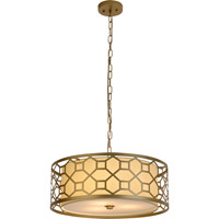 Trend Lighting Gala 3 Light Pendant in Champagne Gold with Cream Shantung Shade TP7699-51
