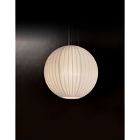 Trend Lighting Shanghai 1 Light Pendant in Brushed Nickel TP7902-W