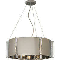 Trend Lighting Zoom 6 Light Chandelier in Polished Stainless Steel TP8019