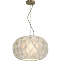 Trend Lighting Honeycomb 1 Light Oval Pendant in Brushed Nickel TP8539