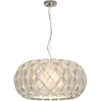 Trend Lighting Honeycomb 2 Light Large Oval Pendant in Brushed Nickel TP8546