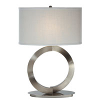 Trend Lighting Infinity 1 Light Table Lamp in Brushed Nickel TT3101