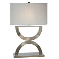 Trend Lighting Echo 1 Light Table Lamp in Brushed Nickel TT3121