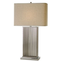 Trend Lighting Escape 1 Light Table Lamp in Brushed Nickel/Stainless Steel TT3132