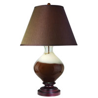 Trend Lighting Caramel 1 Light Table Lamp in Walnut TT3532