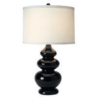 Trend Lighting Diva 1 Light Table Lamp in Ebony Lacquer TT3605
