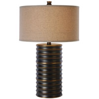 Trend Lighting Wave 1 Light Table Lamp in Aged Brass TT4080