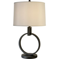Trend Lighting Colure 1 Light Table Lamp in Blacksmith Gray with Off-White Shantung Shade TT4300-79