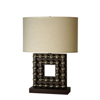 Trend Lighting Preston 1 Light Table Lamp in Espresso and Stainless Steel TT5070
