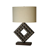 Trend Lighting Preston 1 Light Table Lamp in Espresso and Stainless Steel TT5072