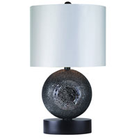 Trend Lighting Delphi 1 Light Table Lamp in Ebony Lacquer TT5360-BW