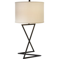Trend Lighting Zed 1 Light Table Lamp in Blacksmith Gray with Lattice Cream Linen Shade TT5621-79