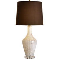 Trend Lighting Celebration 1 Light Table Lamp in Milk with Gold Freckled and Champagne Gold with Chocolate Shade TT6790
