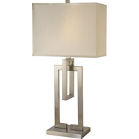 Trend Lighting Precision 1 Light Table Lamp in Brushed Nickel with Ivory Shantung Shade TT7301-31