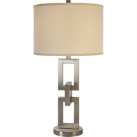 Trend Lighting Linque 1 Light Table Lamp in Brushed Nickel with Lattice Cream Shade TT7571-31