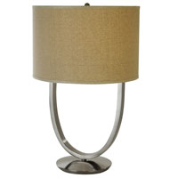 Trend Lighting Dawn 1 Light Table Lamp in Brushed Nickel TT7600