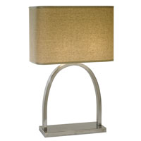 Trend Lighting Dusk 1 Light Table Lamp in Brushed Nickel TT7610