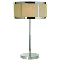 Trend Lighting Butler 2 Light Table Lamp in Polished Chrome TT7991