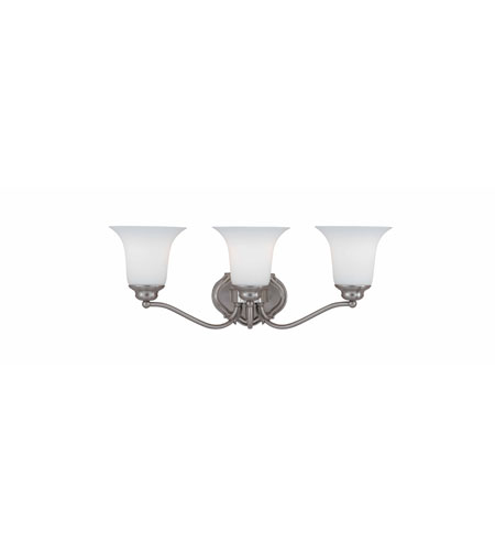 Triarch Signature 3 Light Bath Light in Satin Nickel 23133