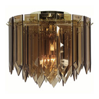 Triarch Industries Signature 1 Light Flush Mount in Polished Brass 12001-AMB