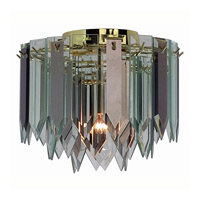 Triarch Industries Signature 1 Light Flush Mount in Polished Brass 12001-RSCL