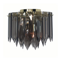 Triarch Industries Signature 1 Light Flush Mount in Polished Brass 12001-SMK