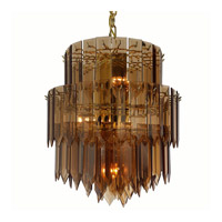 Triarch Industries Signature 6 Light Chandelier in Polished Brass 12002-AMB
