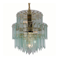 Triarch Industries Signature 6 Light Chandelier in Polished Brass 12002-CLR