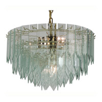Triarch Industries Signature 7 Light Chandelier in Polished Brass 12004-CLR