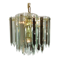 Triarch Signature 4 Light Chandelier in Brass 12008-RSCL