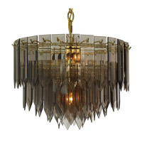 Triarch Industries Signature 5 Light Chandelier in Polished Brass 12013-SMK