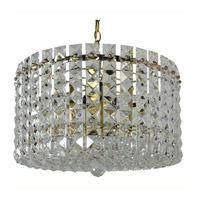 Triarch Industries Prismatic Gem 9 Light Chandelier in Polished Brass 24402