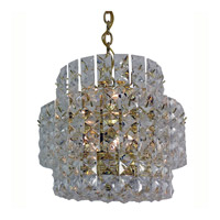 Triarch Industries Prismatic Gem 8 Light Chandelier in Polished Brass 24403