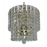 Triarch Industries Prismatic Gem 5 Light Chandelier in Polished Brass 24404