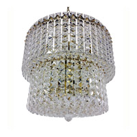 Triarch Industries Prismatic Gem 9 Light Chandelier in Polished Brass 24405