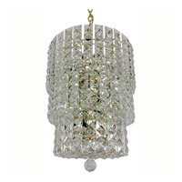 Triarch Industries Prismatic Gem 3 Light Chandelier in Polished Brass 24406