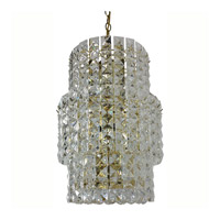 Triarch Industries Prismatic Gem 3 Light Chandelier in Polished Brass 24407