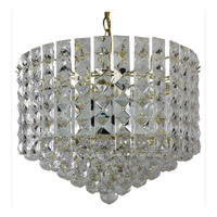 Triarch Industries Prismatic Gem 1 Light Chandelier in Polished Brass 24410