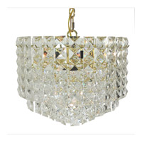 Triarch Industries Prismatic Gem 7 Light Chandelier in Polished Brass 24421