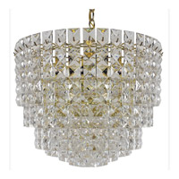 Triarch Industries Prismatic Gem 7 Light Chandelier in Polished Brass 24422