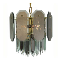 Triarch Industries Signature 7 Light Chandelier in Polished Brass 25014