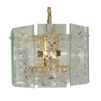 Triarch Signature 4 Light Chandelier in Brass 25032